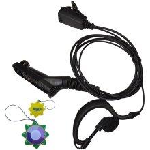 HQRP G Shape Earpiece Headset PTT Mic for Motorola DP4601, DP4800, DP4801, XPR6300 + HQRP UV Meter