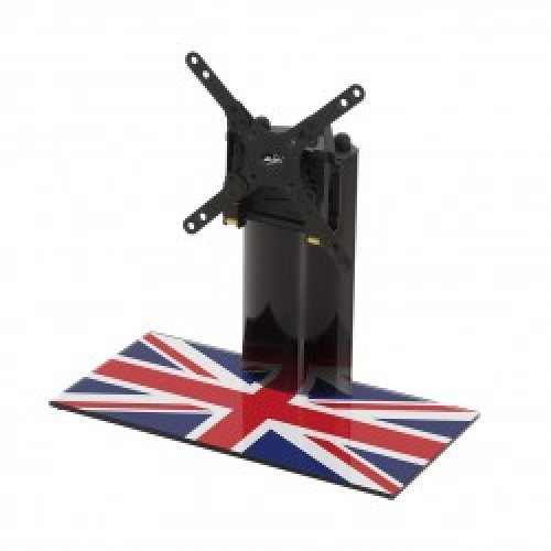 "King Table Top Base Pedestal Stand with Universal Bracket and Union Jack United Kingdom UK Great Britain Flag by TV Furniture Direct (12"" - 32"")"