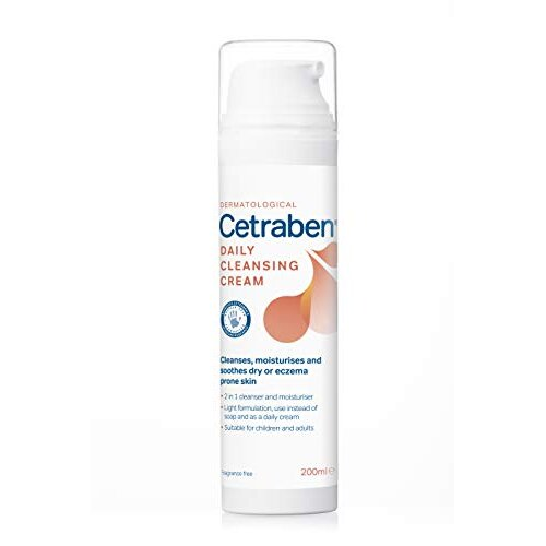 Cetraben 2in1 Daily Cleansing Cream and Body Moisturiser, Perfect for Dry, Sensitive or Eczema Skin - 200ml