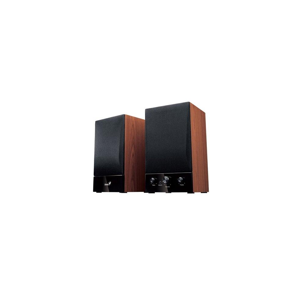 Genius Sp-Hf1250b Ii Wooden Hi-Fi Stereo Speakers 31730011402