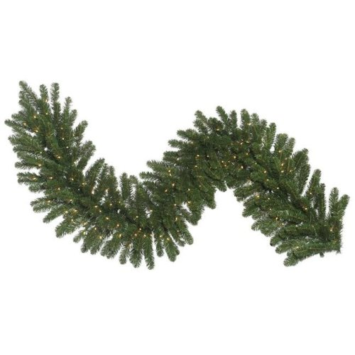 Vickerman C164717 Oregon Fir Dura-Lit Garland with Clear Lights, 9 ft. x 18 in.