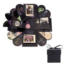 Surprise Explosion Black Memory Scrapbook   Unfolding Photo Album Box