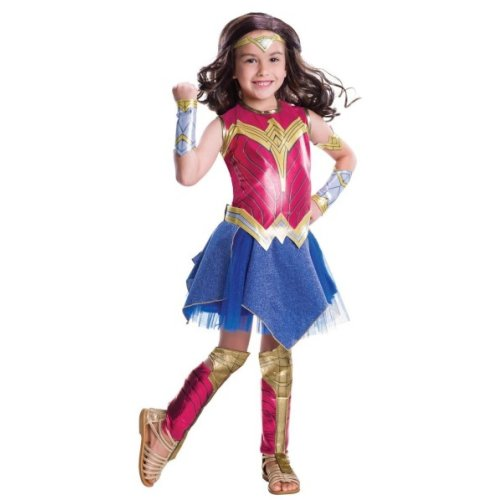 Wonder Woman Deluxe Childs Fancy Dress Costume