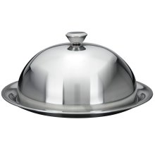 GEEZY Food Cover Dome Plate Restaurant Stainless Steel Cloche Serving Dish Bell Jar