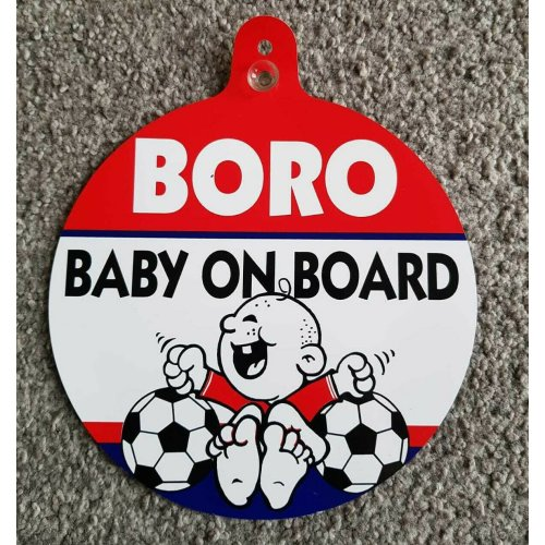 "Middlesbrough FC Car Window Hanger ""Boro Baby On Board"""