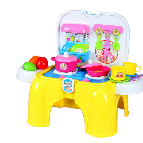 Baby/Child Kitchen Playset Color Recognition Plastic Toy (Chairs and Fruit Set)