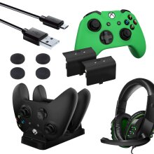 Essential Player Pack 6-in-1 Bundle for Xbox One with Headset, Charger