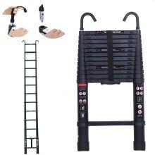 5M Aluminum Ladder Compact Telescopic Ladder EN131 Certified with Hook