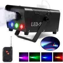 Fog Smoke Machine With LED Lights Wireless Remote Control Party Disco