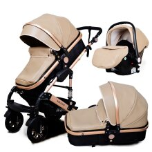 3-in-1 High Landscape- Baby Stroller, Luxury Trolley With Vibration Umbrella
