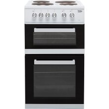 Beko KD532AW 50cm Electric Cooker with Solid Plate Hob - White