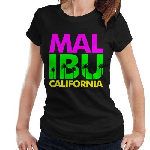 Malibu Retro Colour Text Women's T-Shirt