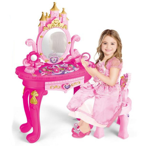 The Magic Toy Shop Princess Vanity Dressing Table, Stool & Accessories Set | Children's Dressing Table