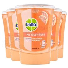 5pk Dettol No-Touch Refill Grapefruit Anti-Bacterial Hand Wash - 5 x 250ml