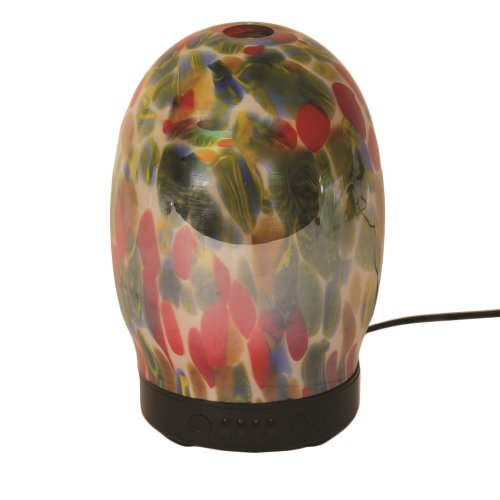 Aroma Art Glass LED Ultrasonic Electric Oil Diffuser Aromatherapy Peacock