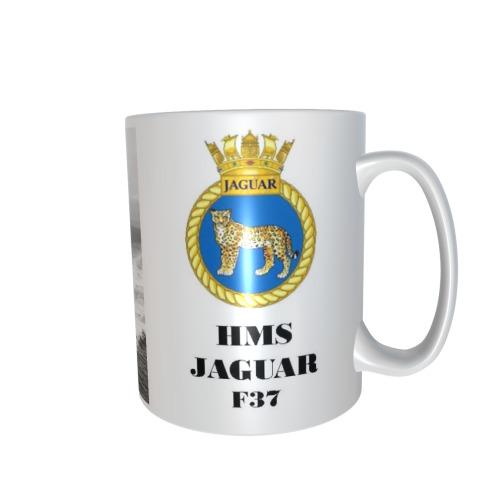 HMS JAGUAR F37 PERSONALISED CERAMIC COFFEE MUG