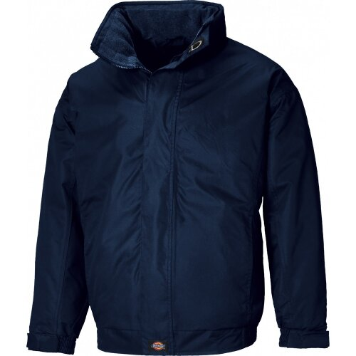 (S, Navy Blue) Dickies Mens Cambridge Jacket (Concealed Hood)
