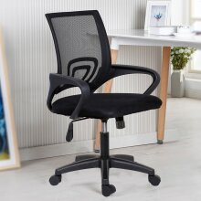 360° Swivel Adjustable Mesh Office Chair Executive Computer Chair Fabric Seat