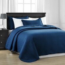 3 Piece Satin Embossed Bedspread All Sizes