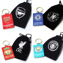 Spot On Gifts Football Club Keyring In Velvet Gift Bag