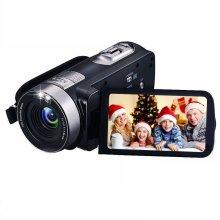 "Digital Camcorder with IR Night Vision, iBacakys Portable Mini Handheld Video Camera 24.0 Mega Pixels DV 3"" LCD Screen 18X Digital Zoom ((Two..."