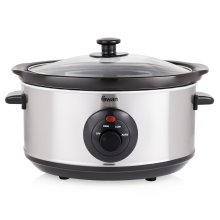 Swan Stainless Steel Slow Cooker - 3.5L