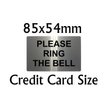Please Ring The Bell Metal Aluminium Door Sign Plaque for House Office 85x54mm