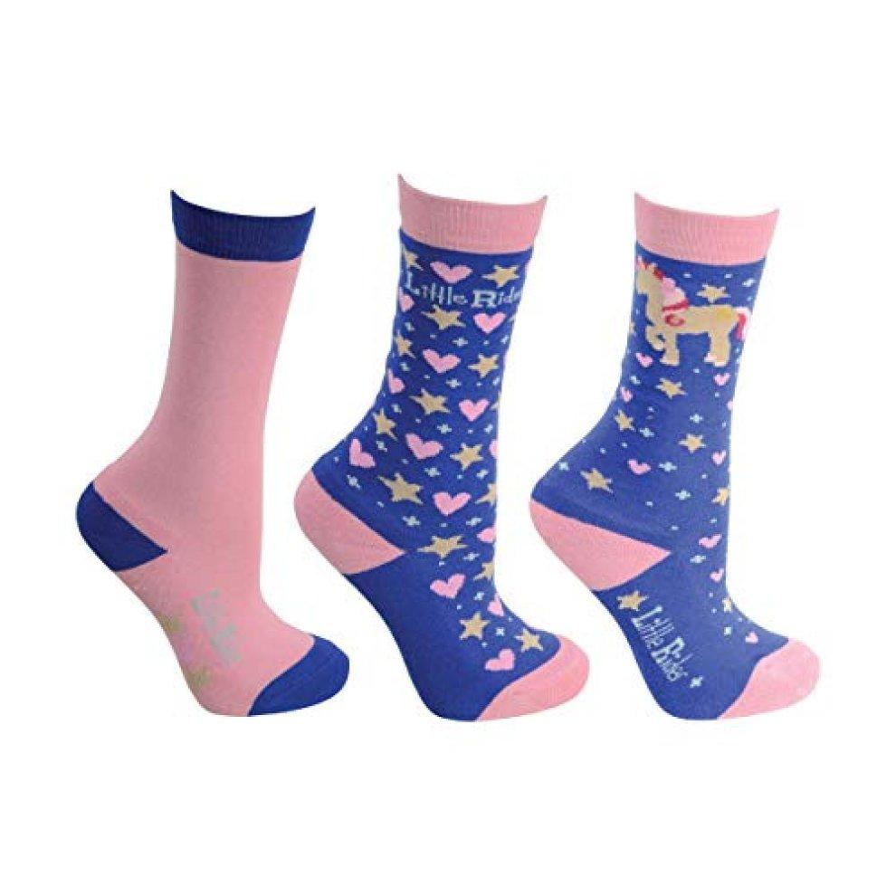 3 Pairs FLOSO/® Childrens//Kids Retro Gripper Socks