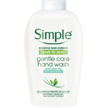 Simple Antibacterial Cleansing Hand Wash Refill Pack No Pump, Sensitive Sanitising Liquid Soap Gentle And Kind To Skin Bulk 2 Month Supply (6 x 250ml)