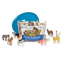Learning Resources LER0810 Farm Animal Counters, Set of 60