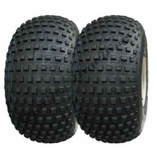 25x12.00-9 ATV Knobby tyre, Quad trailer, 4 stud 100mm PCD - set of 2