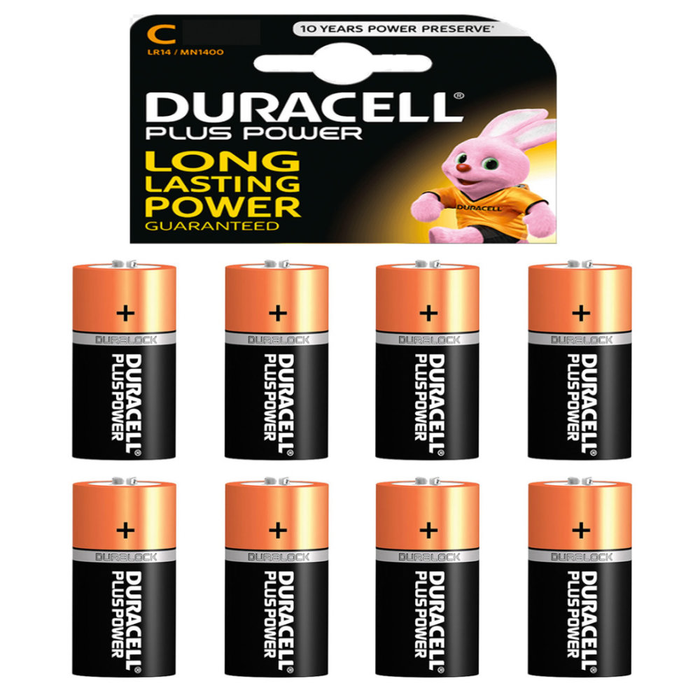 Duracell Power Plus C Alkaline Batteries Lr14 Mn1400 1 5v Battery