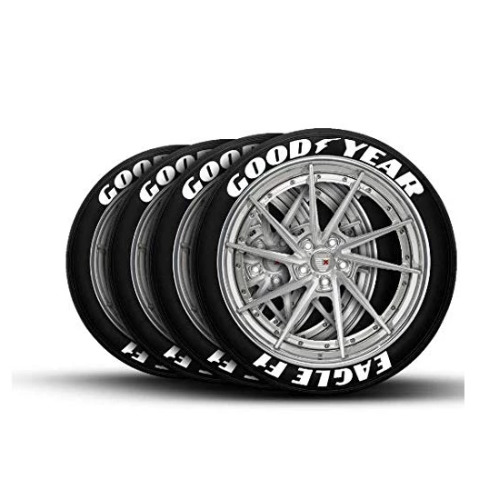 RUBBER RAISED GOOD YEAR GOODYEAR TYRE STICKER DECAL VINYL LETTERS