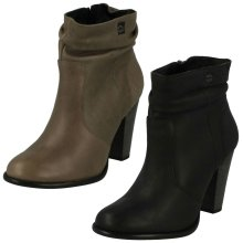 Ladies Harley Davidson Heeled Ankle Boots Stone Brook - W Fit