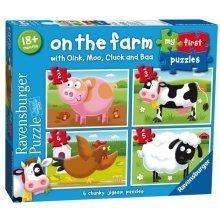 4 Jigsaw Puzzles - On the Farm