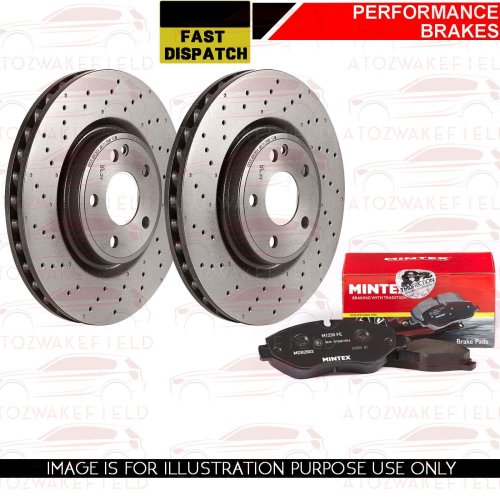 FOR FORD FOCUS ST 225 MK2 FRONT PERFORMANCE BRAKE DISCS MINTEX PADS 320mm
