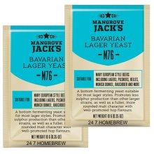 2x Mangrove Jacks Craft Series Yeast M76 Bavarian Lager (10g)