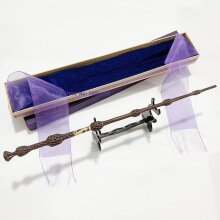 Metal Core Bellatrix Dumbledore Elder Wand HP Magic Wand Box with Stand Gift