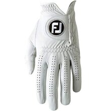 FootJoy Mens Pure Touch Limited Golf Gloves White Cadet Medium/Large Worn on Left Hand