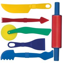 Gowi Toys Modelling Tools (Set of 6) - Play Dough Tools