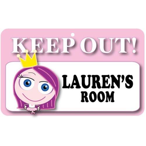 Keep Out Door Sign - Lauren's Room