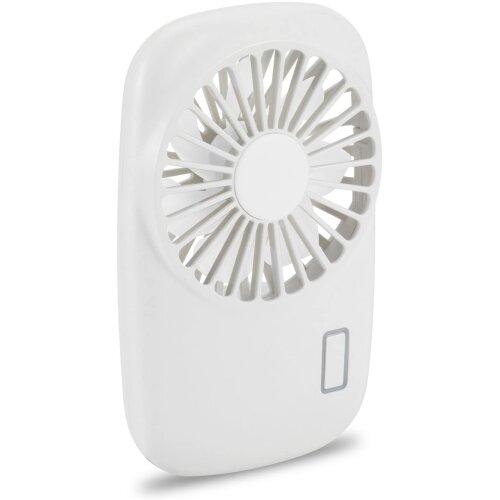 (White) Aluan handheld fan mini fan powerful small personal portable fan speed adjustable USB rechargeable eyelash fan