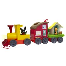 Bing's Lights and Sounds Train with Mini Playset With 2 Carriages And Front Lights For Ages 3+