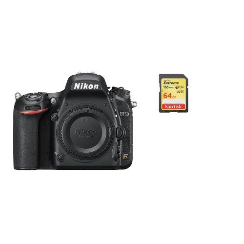 NIKON D750 Body + SanDisk Extreme 64G SD card