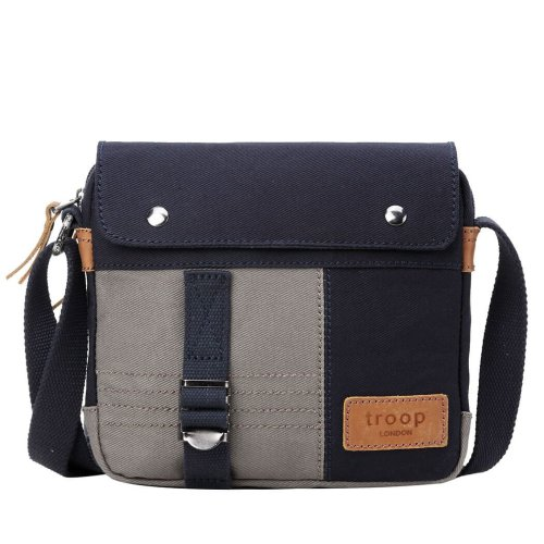 TRP0497 Troop London Classic Canvas Messenger Bag   Buy Bags Online   Canvas Messenger Bags   leather canvas backpack