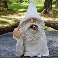 Naughty Gnomes Smoking Garden Statue Dwarf Decor
