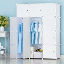 12 Cube DIY Plastic Wardrobe Cupboard Closet Cabinet Organizer