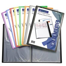 A4 FRONT COVER DISPLAY BOOK FOLDER 14 - 106 POCKET