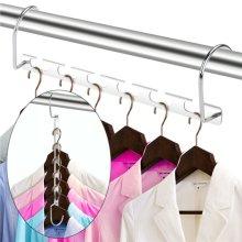 6pk Metal Magic Clothes Hanger | Space-Saving Clothes Organiser