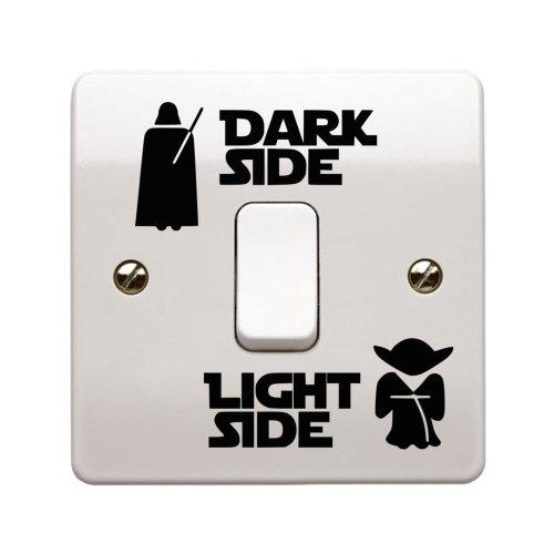 Star Wars Dark Side / Light Side Light Switch Vinyl Decal Sticker UK Made